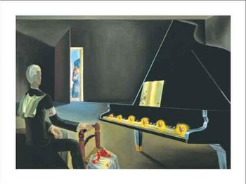 Reprodução do quadro  Partial Hallucination: Six Apparitions of Lenin on a Piano, 1931