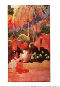 Reprodução do quadro Paysage De Tahiti - Hory na Tahiti