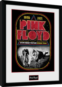 Pink Floyd - Atom Heart World Tour Poster Emoldurado