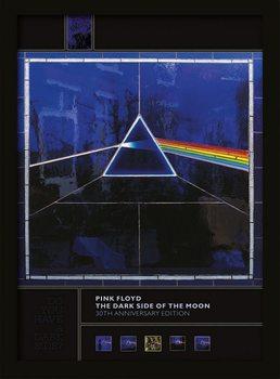 Pink Floyd - Dark Side of the Moon (30th Anniversary) Poster Emoldurado