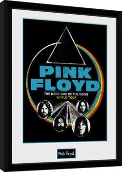 Pink Floyd - Dsom World Tour Poster Emoldurado