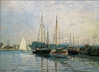Reprodução do quadro Pleasure Boats, Argenteuil, 1872-3