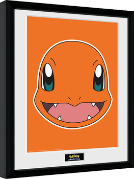 Pokemon - Charmander Face Poster Emoldurado