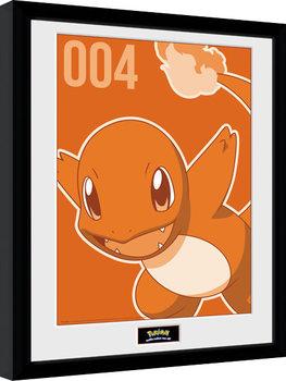 Pokemon - Charmander Mono Poster Emoldurado