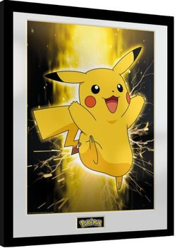 Pokemon - Pikachu Poster Emoldurado
