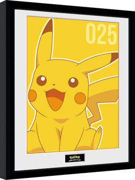 Pokemon - Pikachu Mono Poster Emoldurado