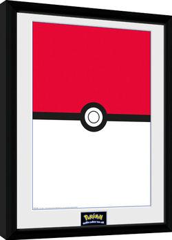 Pokemon - Pokeball Poster Emoldurado