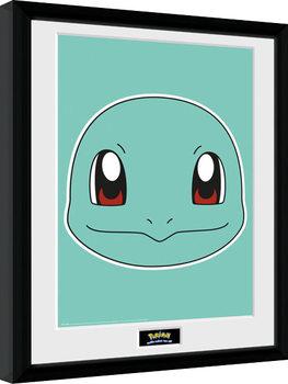 Pokemon - Squirtle Face Poster Emoldurado