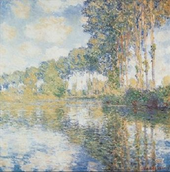 Reprodução do quadro Poplars on the Banks of the River Epte