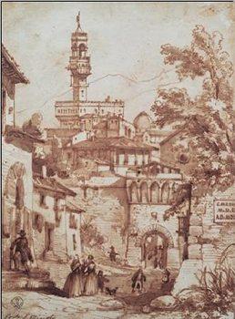 Reprodução do quadro Porta San Miniato