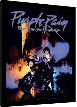 Prince - Purple Rain Poster Emoldurado