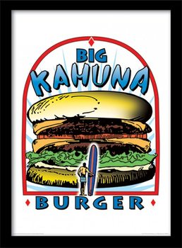 PULP FICTION - big kahuna burger Poster Emoldurado