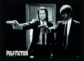 PULP FICTION - guns Poster Emoldurado