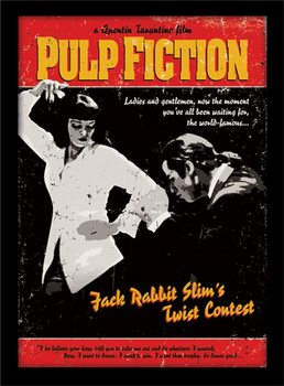 PULP FICTION - twist contest Poster Emoldurado