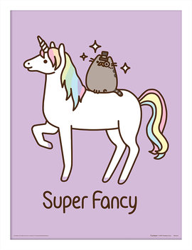 Pusheen - Super Fancy Poster Emoldurado