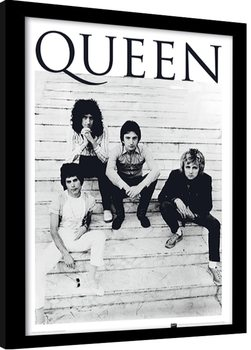 Queen - Brazil 1981 Poster Emoldurado