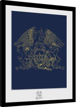 Queen - Crest Poster Emoldurado
