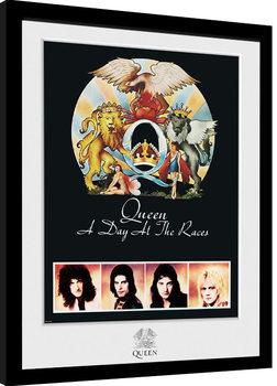 Queen - Day At The Races Poster Emoldurado