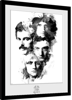 Queen - Faces Poster Emoldurado