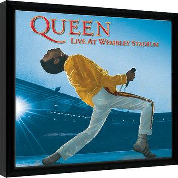 Queen - Live At Wembley Poster Emoldurado