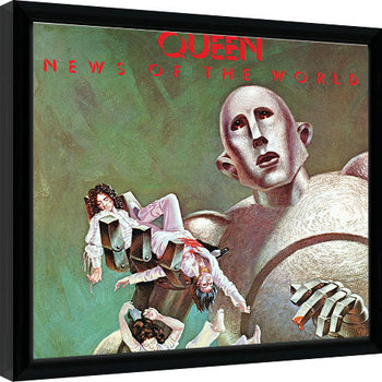 Queen - News Of The World Poster Emoldurado