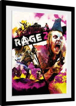 Rage 2 - Key Art Poster Emoldurado
