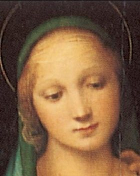 Reprodução do quadro Raphael Sanzio - The Madonna del Granduca, 1505 (part)