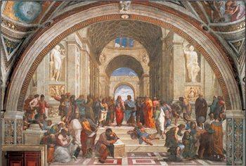 Reprodução do quadro  Raphael Sanzio - The School of Athens, 1509