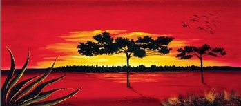 Reprodução do quadro Red Africa