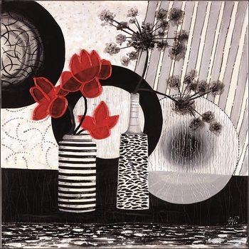 Reprodução do quadro Red art 2 – Trittico