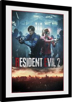 Resident Evil 2 - City Key Art Poster Emoldurado