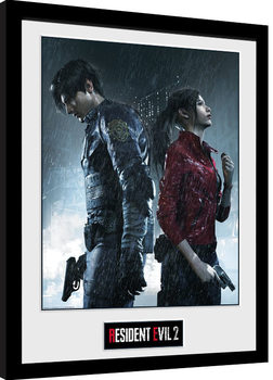 Resident Evil 2 - Rain Key Art Poster Emoldurado