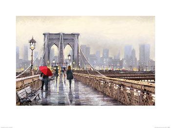 Reprodução do quadro  Richard Macneil - Brooklyn Bridge