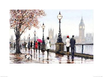Reprodução do quadro  Richard Macneil - Thames View