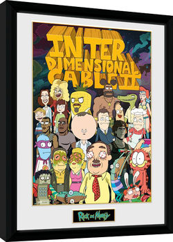 Rick and Morty - Interdimentional Rick Poster Emoldurado