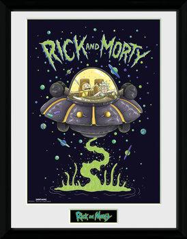 Rick and Morty - Ship Poster Emoldurado