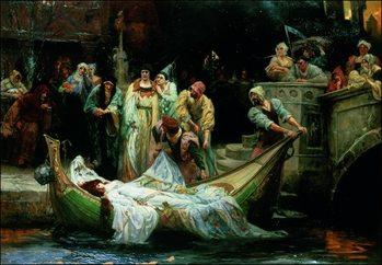 Reprodução do quadro  Robertson - The Lady Of Shalott