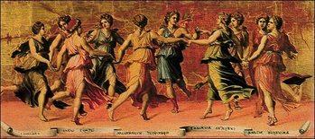 Reprodução do quadro  Romano - Apollo E Le Muse