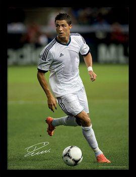 Ronaldo - Autograph Poster Emoldurado