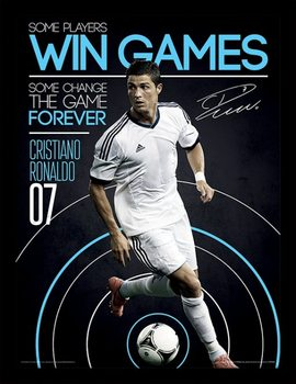 Ronaldo - Change The Game Poster Emoldurado