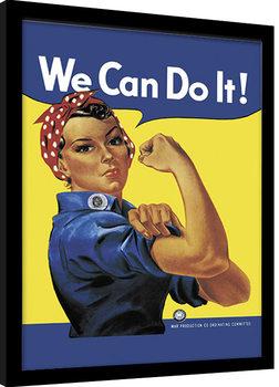 Rosie the Riveter Poster Emoldurado