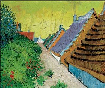 Reprodução do quadro Rue du village Arles