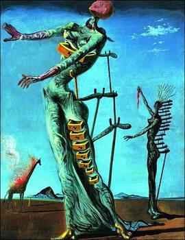 Reprodução do quadro  Salvador Dali - Girafe En Feu
