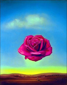 Reprodução do quadro  Salvador Dali - Medative Rose