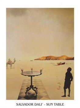 Reprodução do quadro Salvador Dali - Sun Table