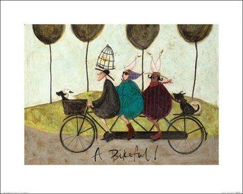 Reprodução do quadro  Sam Toft - A Bikeful!