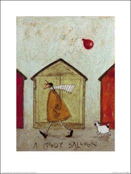 Reprodução do quadro Sam Toft - A Moody Balloon