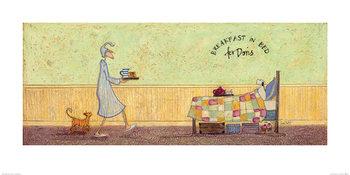 Reprodução do quadro  Sam Toft - Breakfast in Bed For Doris