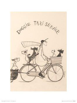 Reprodução do quadro Sam Toft - Doggie Taxi Service