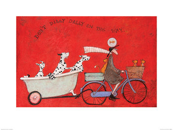 Reprodução do quadro  Sam Toft - Don't Dilly Dally on the Way